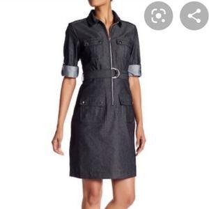 2/$20 - Denim style shirt dress
